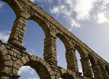 2 Segovia aquaduct Fotografia Royalty Free