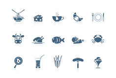2 serie för matsymbolspiccolo Arkivfoto