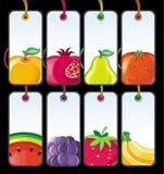 2 set etiketter för frukt Royaltyfri Foto