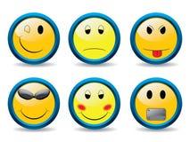 2 set smileys Στοκ εικόνα με δικαίωμα ελεύθερης χρήσης