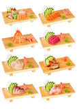 2 set sushi Royaltyfria Foton
