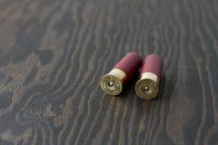 2 shelles de escopeta Imágenes de archivo libres de regalías