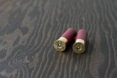 2 Shotgun Shells Royalty Free Stock Images