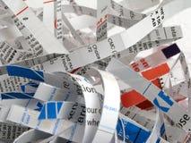 2 shredded документа Стоковое Изображение