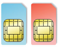 2 Sim Cards. Isolated on a white background royalty free illustration