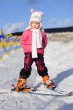 2 skierbarn Royaltyfri Fotografi