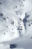 2 Skifahrer auf einem Gletscher Stockbilder