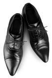 2 skor för svart man s Arkivbilder