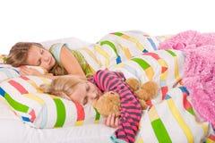 2 slaapkinderen Royalty-vrije Stock Fotografie