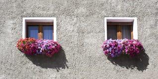 2 små fönster Arkivbilder