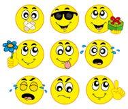 2 smileys różnorodnego Fotografia Royalty Free