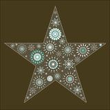 2 snowflake τάπητας αστεριών Στοκ εικόνα με δικαίωμα ελεύθερης χρήσης