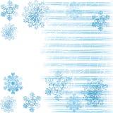 2 snowflakes ανασκόπησης Στοκ εικόνα με δικαίωμα ελεύθερης χρήσης