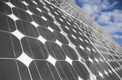 2 sol- paneler Arkivbild