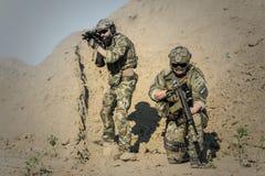 2 Soldier in Desert during Daytime Stock Photo