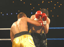 2 som boxas Fotografering för Bildbyråer