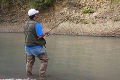 2 som fiskar Arkivbild