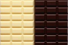 2 Sortierungen der Schokolade Stockfoto