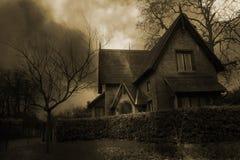 2 spökat hus Royaltyfri Fotografi