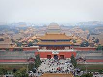 2 stad jingshan förbjuden kull Arkivfoto
