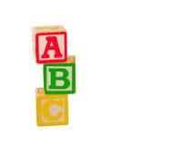 2 staplade abc-block Arkivfoton