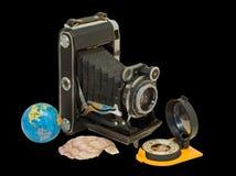2 stary kamery cyrklowego obraz stock