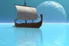 2 statek Viking royalty ilustracja
