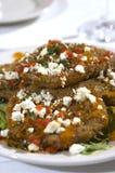 2 stekte gröna tomater Royaltyfria Bilder