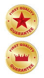 2 Stickers -  First quality. On a white background Stock Photo