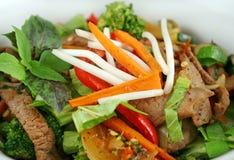 2 stirfry λαχανικά βόειου κρέατος Στοκ Φωτογραφίες