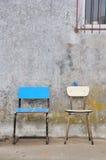 2 stolar tömmer nr.en Arkivbilder