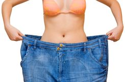 2 stora jeans arkivfoton