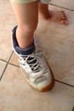 2 stora skor Arkivfoton