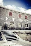 2 Storey Concrete Hotel Alpenrosli Royalty Free Stock Photos