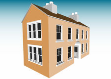 2 storey Home (Vector) Stock Photo