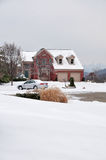 2-story Brick House In Winter Stock Images