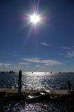2 straddie słońce obrazy royalty free