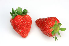 2 Strawberry Royalty Free Stock Photos