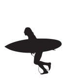 2 surf biegająca Ilustracji