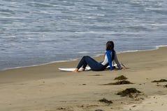 2 surfer dziewczyn. Obrazy Royalty Free