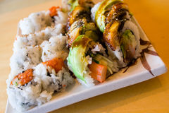 2 sushi Arkivfoto