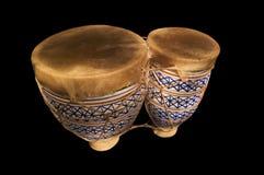 2 svarta bongos Arkivbilder
