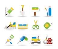 2 symboler för byggnadskonstruktion Arkivbild