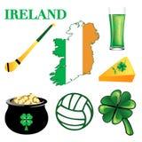 2 symboler ireland vektor illustrationer