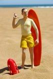 2 syna na plaży Zdjęcie Royalty Free