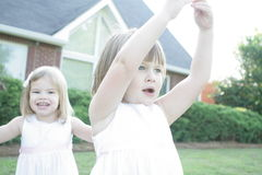 2 systrar Arkivfoto