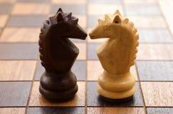 2 szachy Zdjęcia Royalty Free
