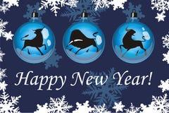 2 szczęśliwego nowego roku Ilustracja Wektor