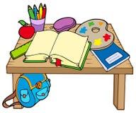 2 szkoły stół Obraz Stock
