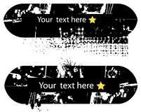 2 sztandarów ciemny grunge styl Ilustracja Wektor